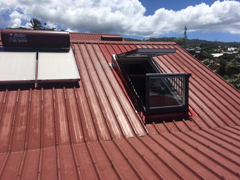 pose de fenêtre de toit à Saint-Pierre à La Réunion 974 | Réunion Toiture